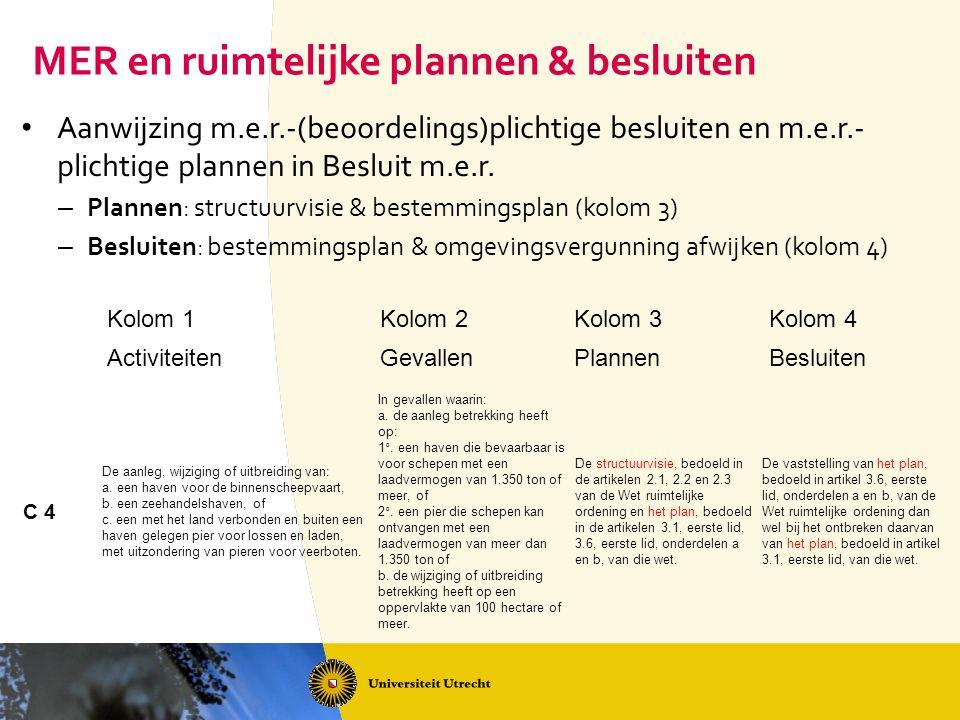 MER en ruimtelijke plannen & besluiten