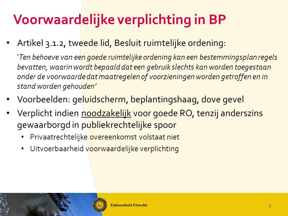 Voorwaardelijke verplichting in BP