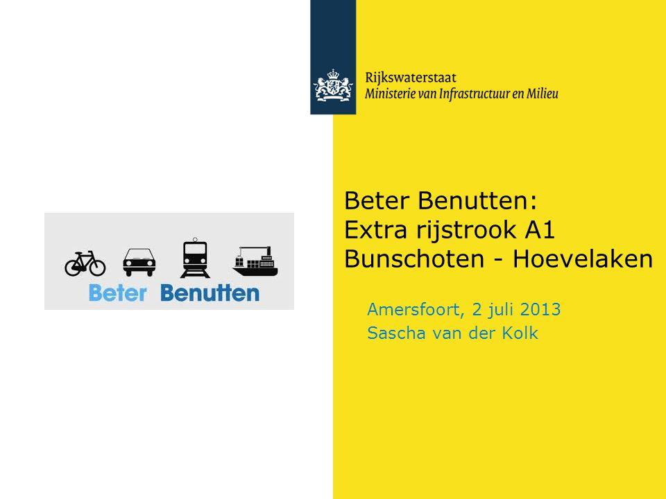 Beter Benutten: Extra rijstrook A1 Bunschoten - Hoevelaken