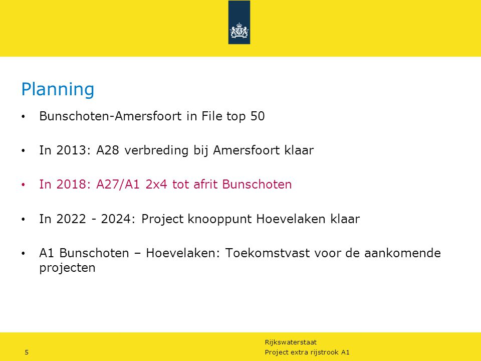 Planning Bunschoten-Amersfoort in File top 50