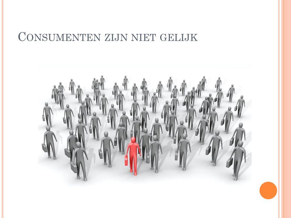 Consumenten zijn niet gelijk