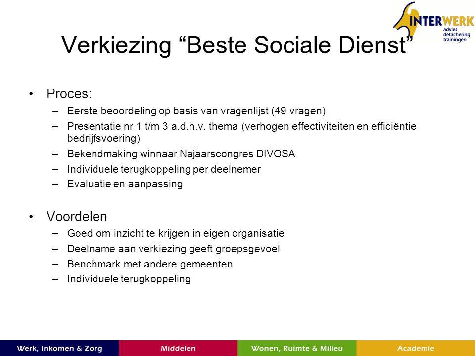 Verkiezing Beste Sociale Dienst