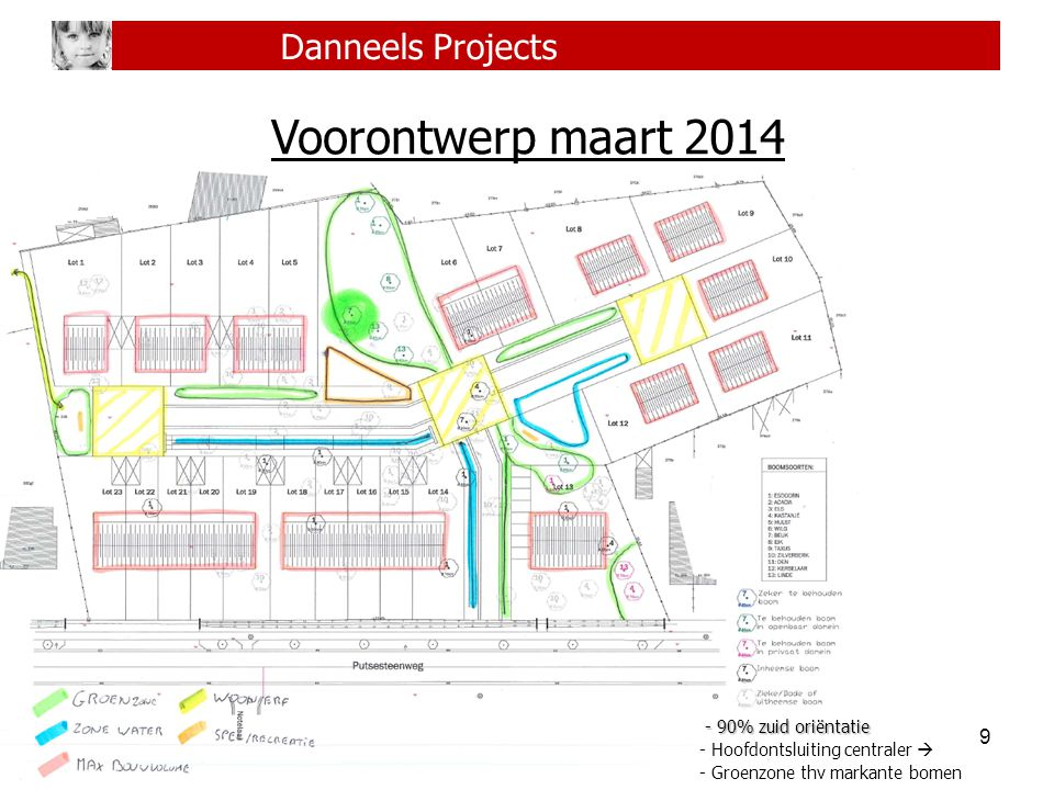Voorontwerp maart 2014 Danneels Projects - 90% zuid oriëntatie