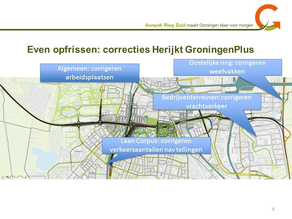 Even opfrissen: correcties Herijkt GroningenPlus