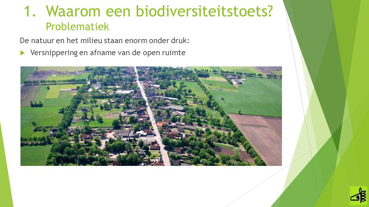Waarom een biodiversiteitstoets Problematiek
