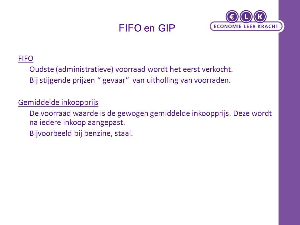 FIFO en GIP