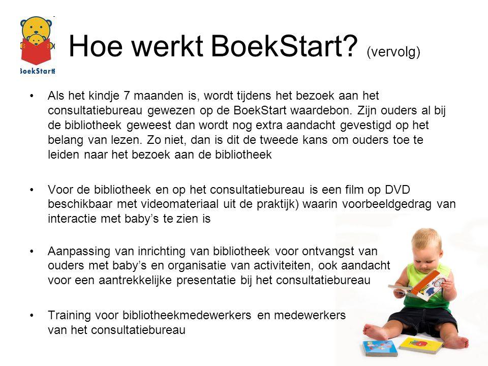Hoe werkt BoekStart (vervolg)