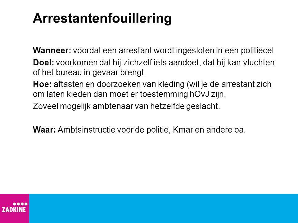 Arrestantenfouillering