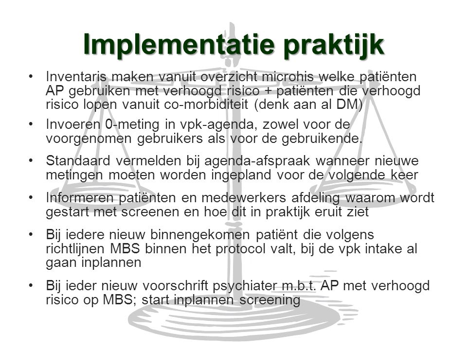 Implementatie praktijk