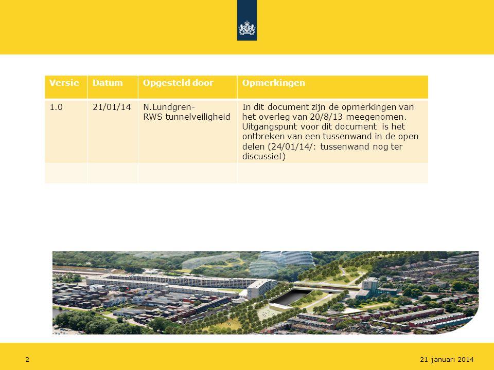 Versie Datum Opgesteld door Opmerkingen 1.0 21/01/14 N.Lundgren-