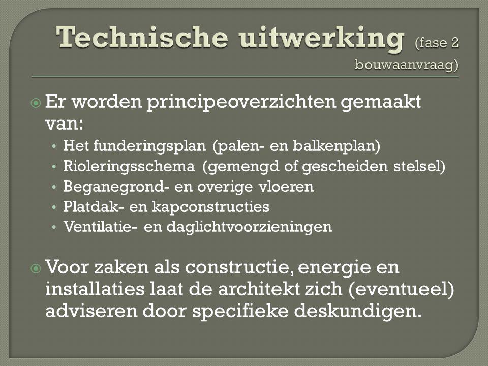 Technische uitwerking (fase 2 bouwaanvraag)