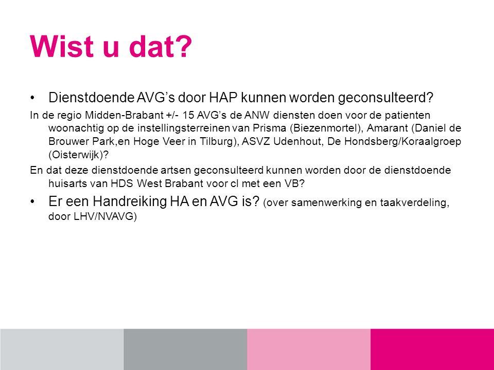 Wist u dat Dienstdoende AVG's door HAP kunnen worden geconsulteerd