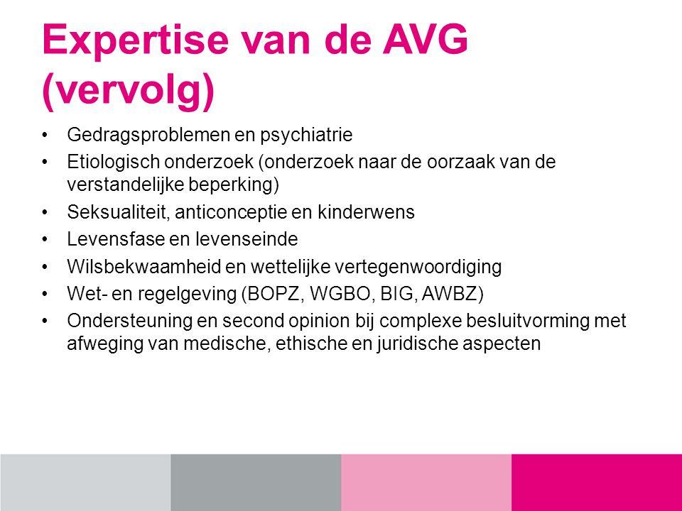 Expertise van de AVG (vervolg)