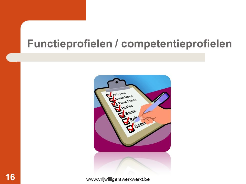 Functieprofielen / competentieprofielen