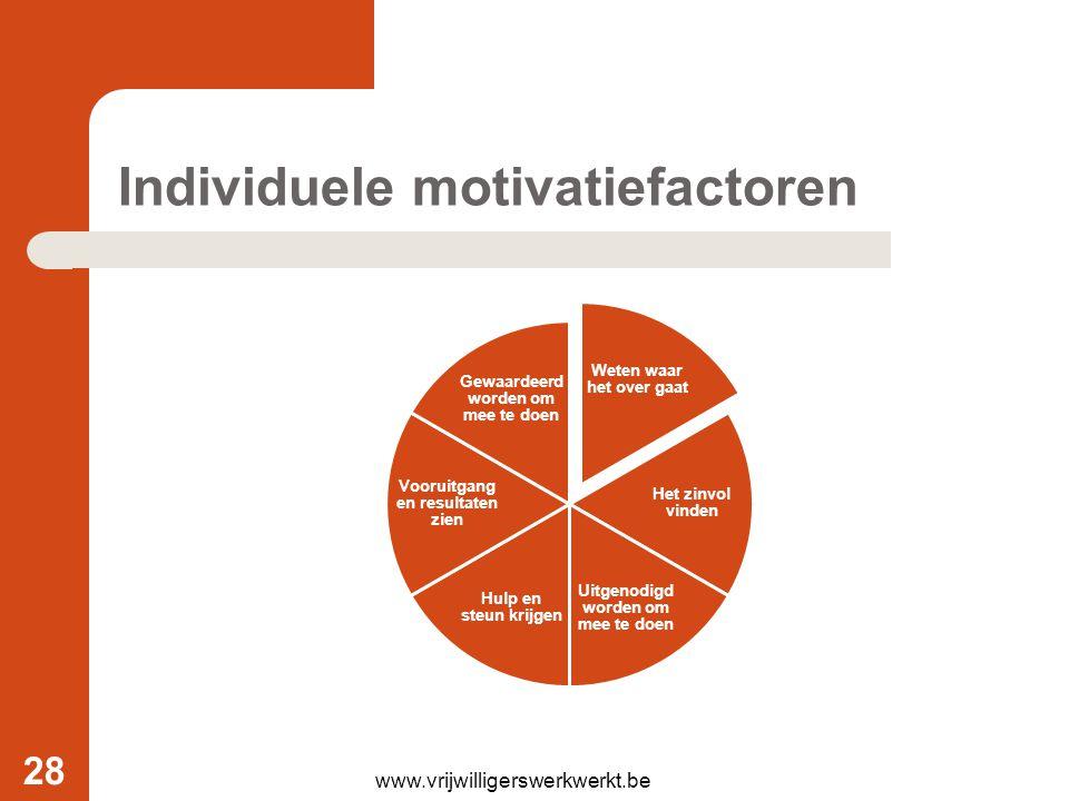 Individuele motivatiefactoren