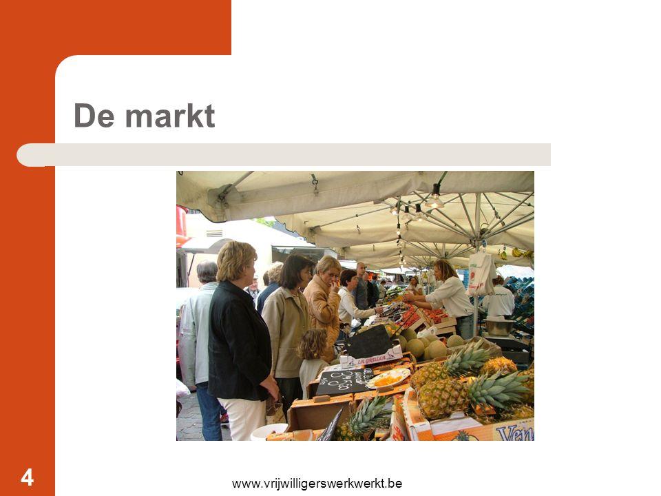 De markt www.vrijwilligerswerkwerkt.be