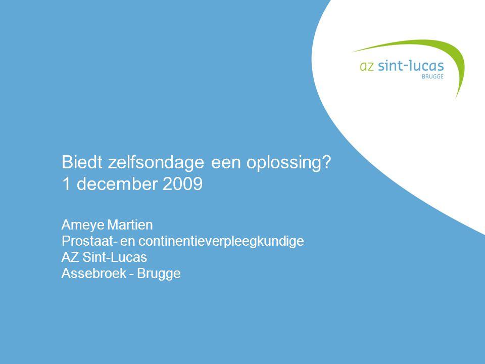 Biedt zelfsondage een oplossing 1 december 2009