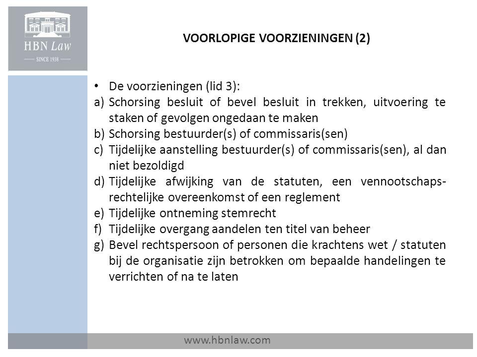 VOORLOPIGE VOORZIENINGEN (2)