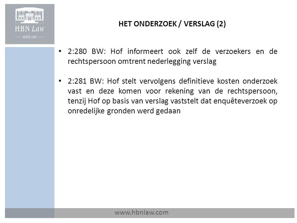 HET ONDERZOEK / VERSLAG (2)