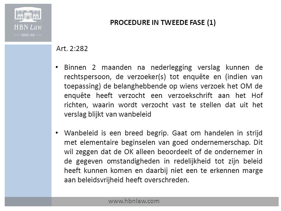 PROCEDURE IN TWEEDE FASE (1)