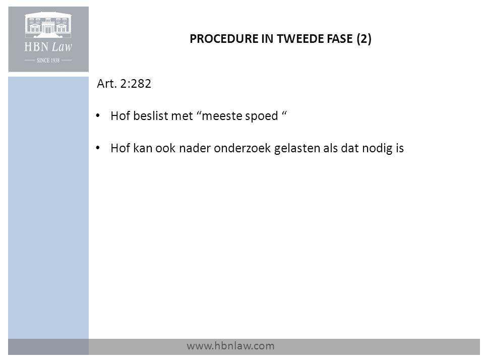 PROCEDURE IN TWEEDE FASE (2)