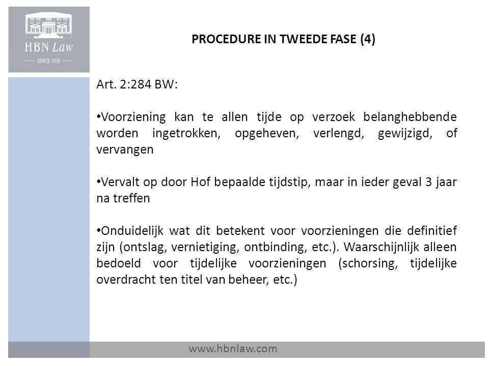 PROCEDURE IN TWEEDE FASE (4)
