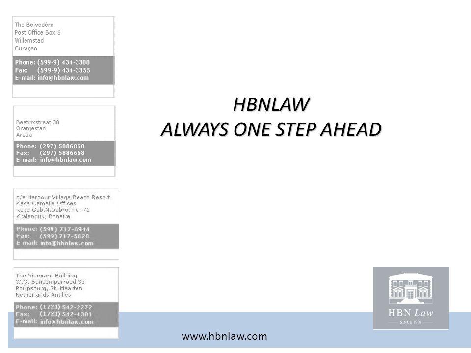 HBNLAW ALWAYS ONE STEP AHEAD