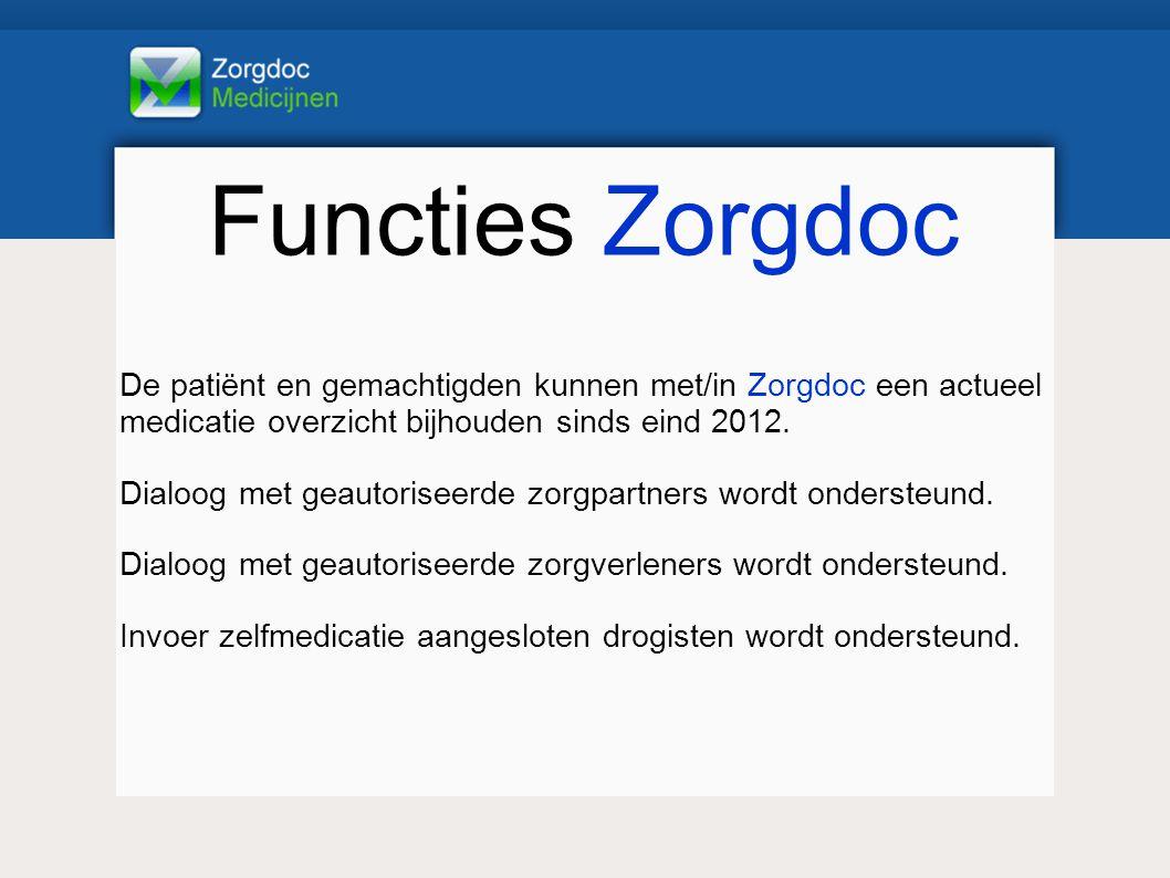 Functies Zorgdoc