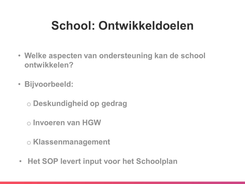 School: Ontwikkeldoelen