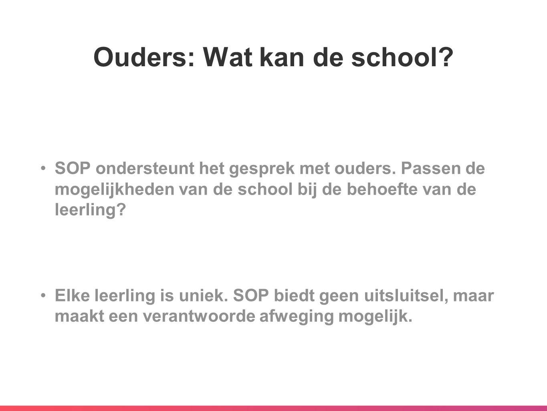 Ouders: Wat kan de school