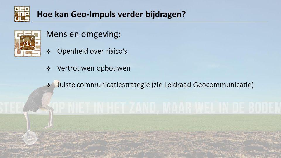 Hoe kan Geo-Impuls verder bijdragen