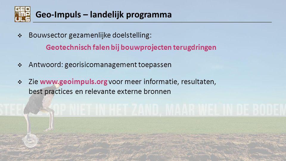 Geo-Impuls – landelijk programma