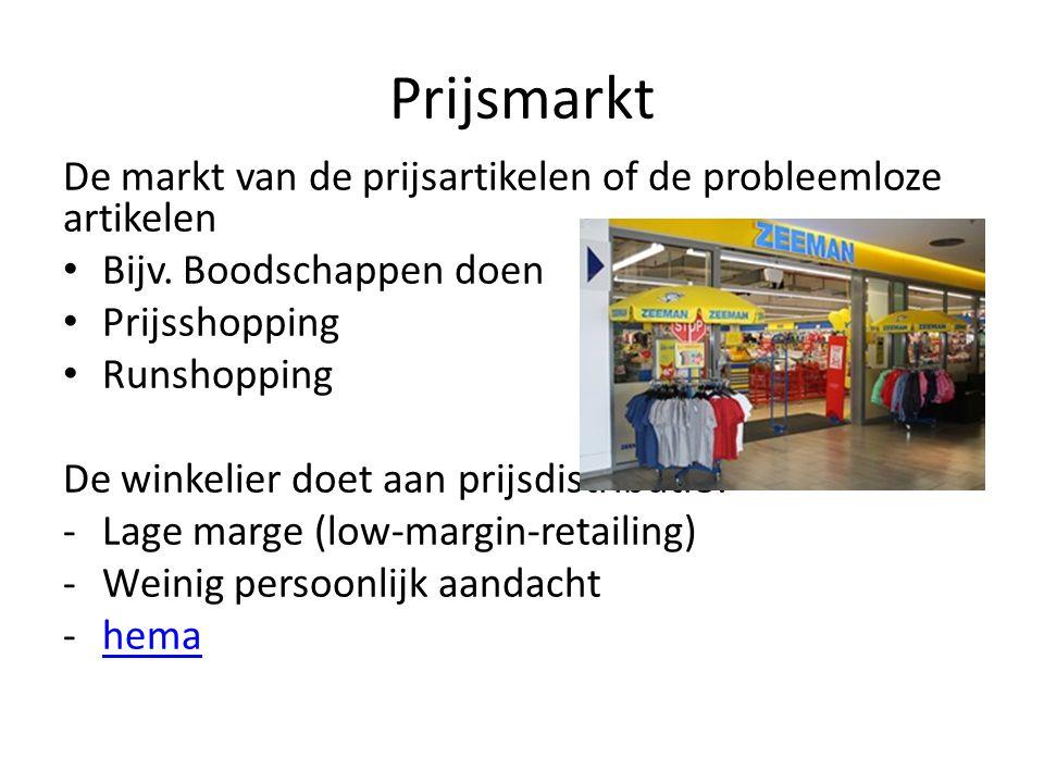 Prijsmarkt De markt van de prijsartikelen of de probleemloze artikelen