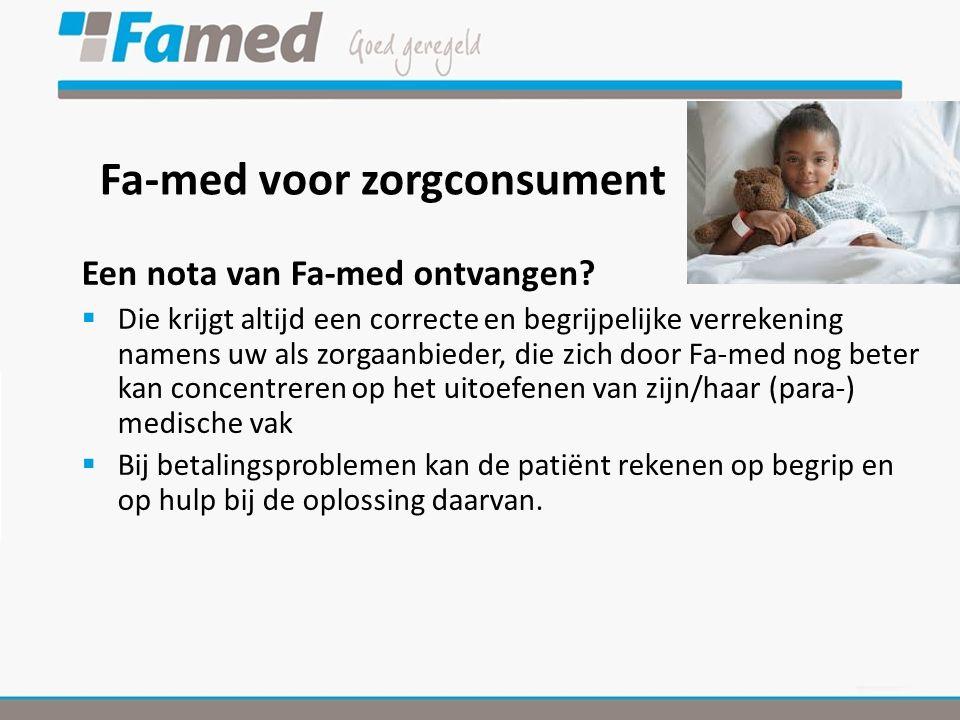 Fa-med voor zorgconsument