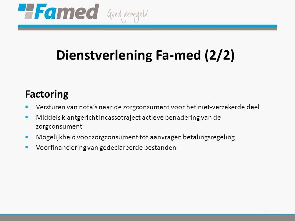 Dienstverlening Fa-med (2/2)