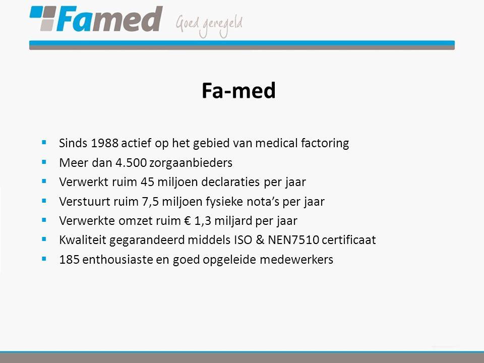 Fa-med Sinds 1988 actief op het gebied van medical factoring