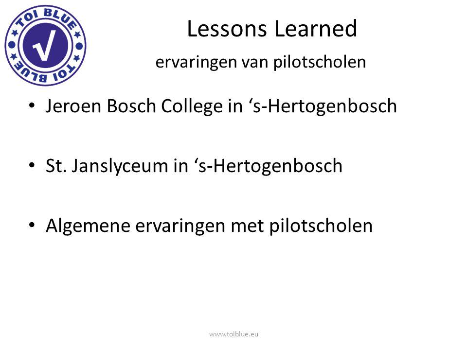 Lessons Learned ervaringen van pilotscholen