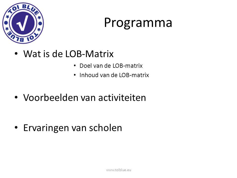 Programma Wat is de LOB-Matrix Voorbeelden van activiteiten