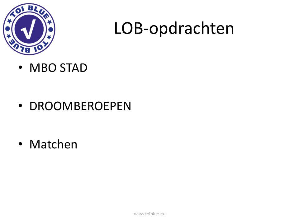 LOB-opdrachten MBO STAD DROOMBEROEPEN Matchen