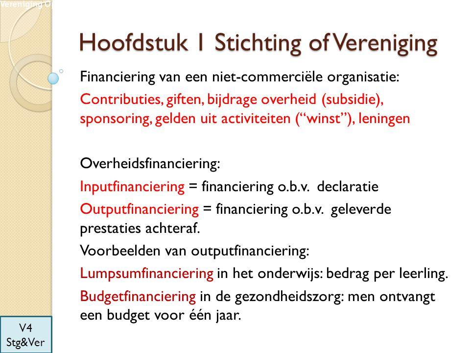 Hoofdstuk 1 Stichting of Vereniging