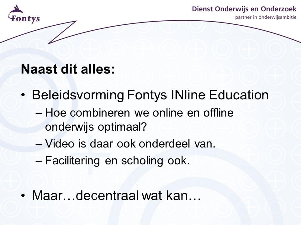 Beleidsvorming Fontys INline Education