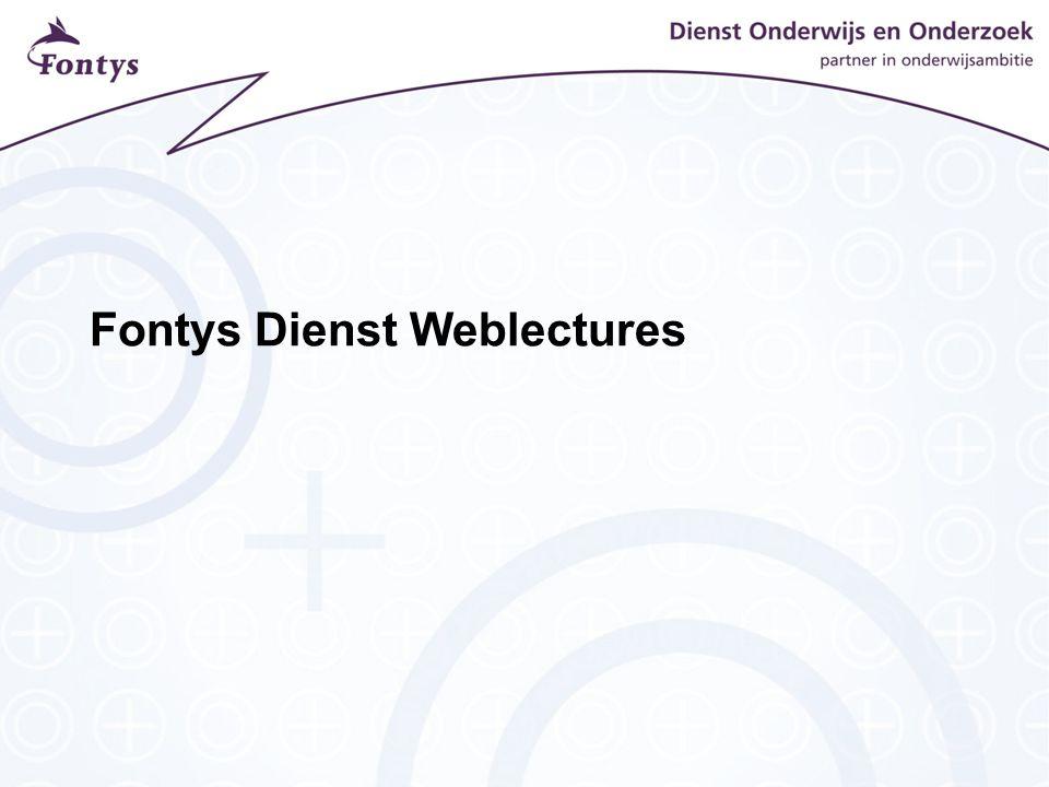 Fontys Dienst Weblectures