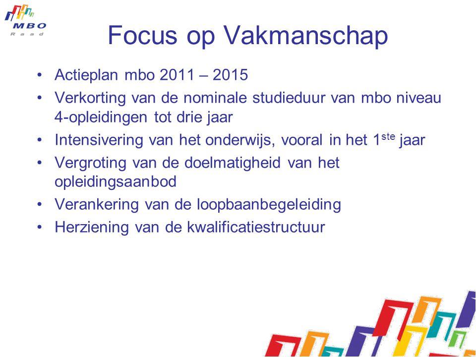 Focus op Vakmanschap Actieplan mbo 2011 – 2015