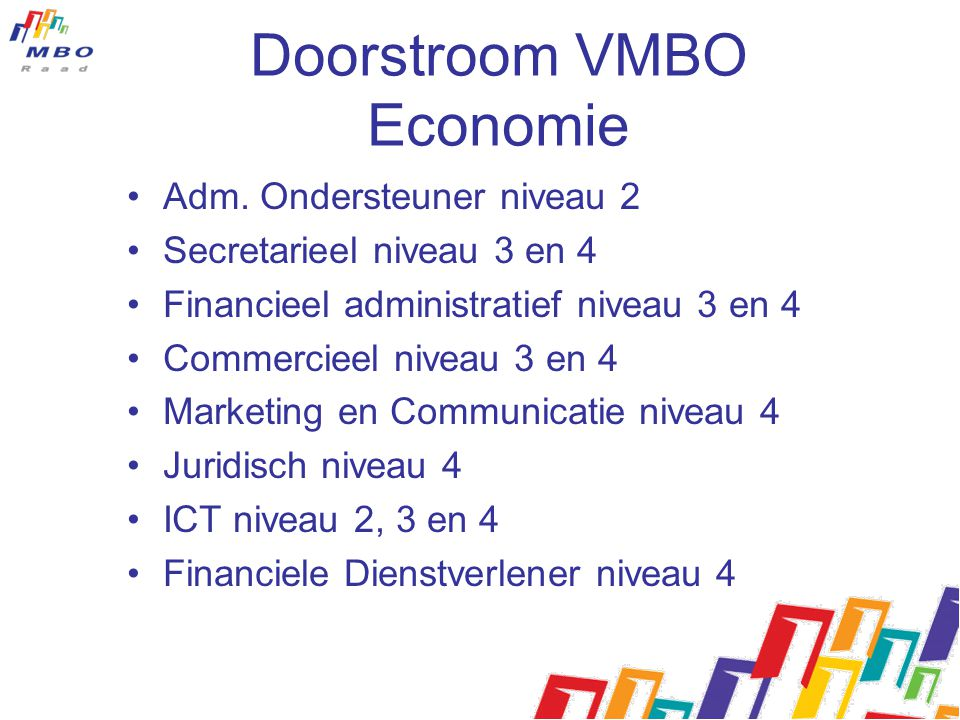 Doorstroom VMBO Economie
