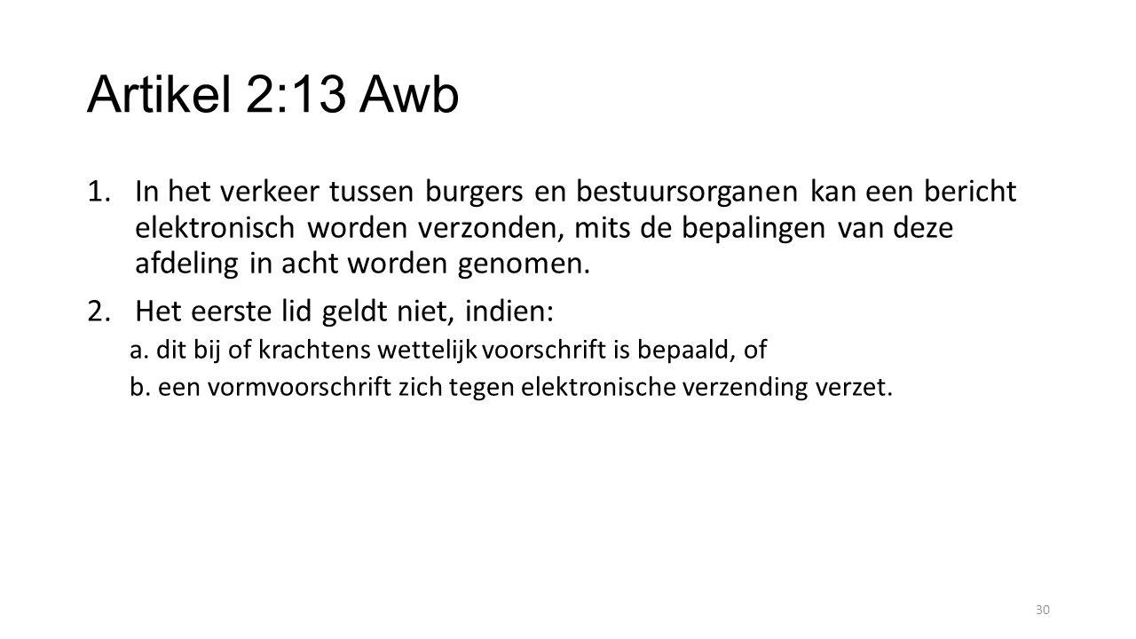 Artikel 2:13 Awb