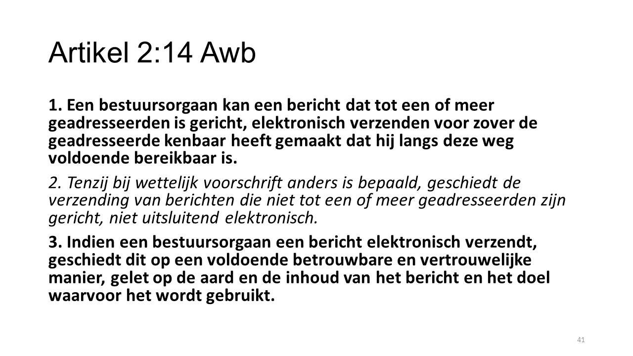Artikel 2:14 Awb
