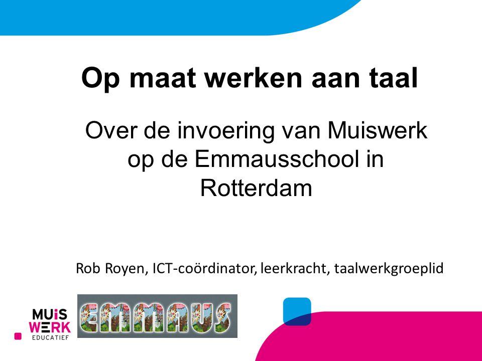 Op maat werken aan taal Over de invoering van Muiswerk op de Emmausschool in Rotterdam.