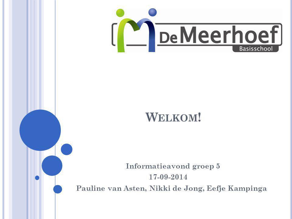 Welkom! Informatieavond groep 5 17-09-2014