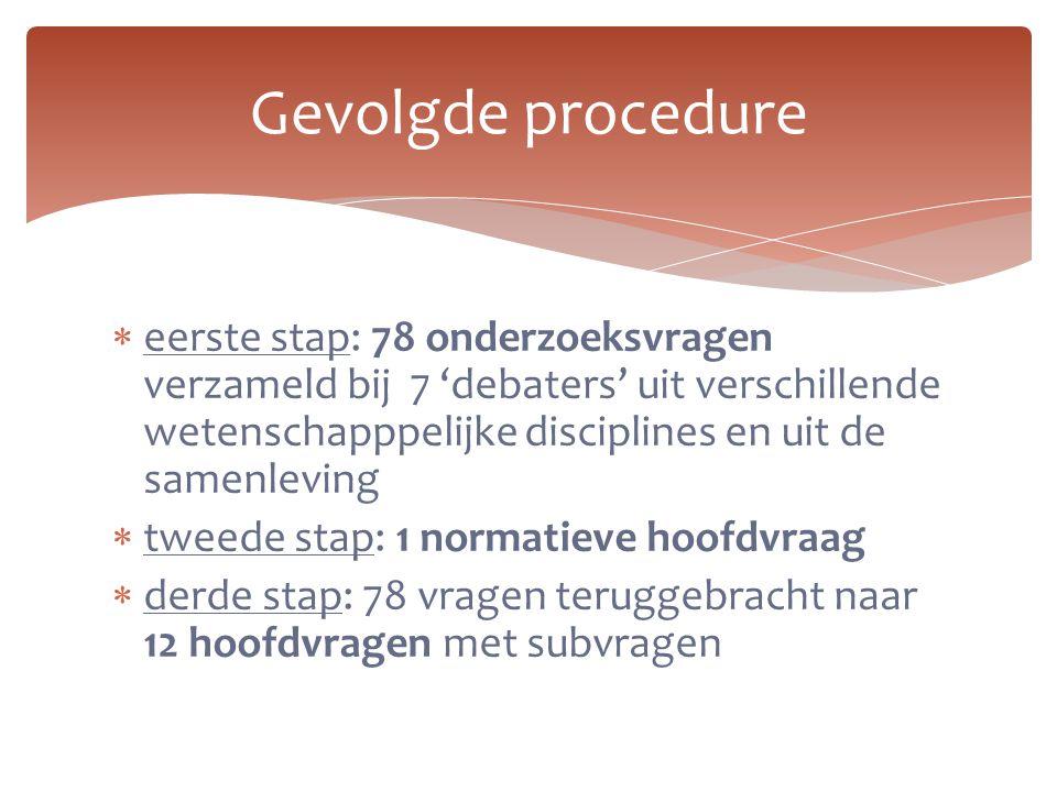Gevolgde procedure
