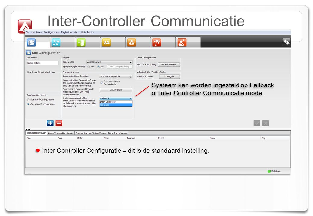 Inter-Controller Communicatie